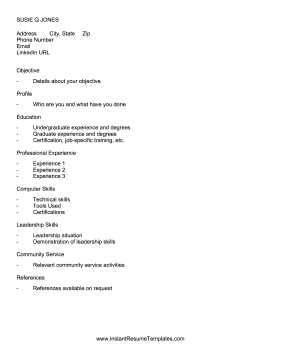 academic ats resume template