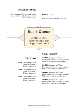 Centered White Space Resume (A4)
