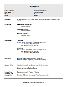 education resume this resume lets the job applicant share special ...
