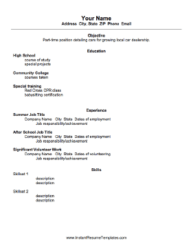 resume outline for high school students koni polycode co