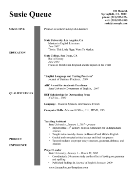 Nonprofit Resume