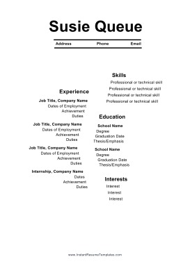 Offset Resume (A4)