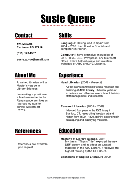 Paragraph Resume Color (A4)