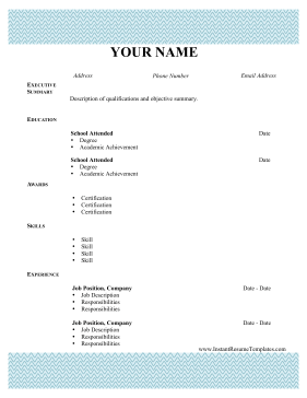 free resume downloads in word format