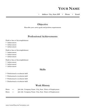 Professional Resume No Degree