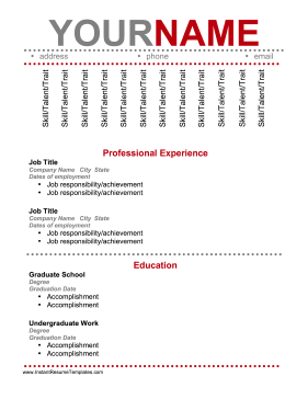 skill names for resume