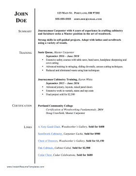 Resume With Links