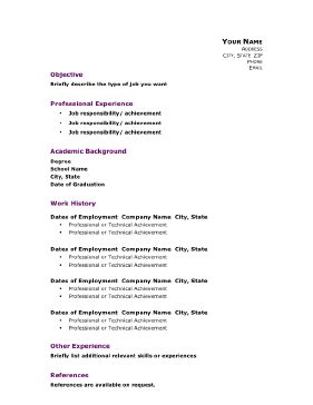 Professional Academic Resume (A4)  Resume Background Image