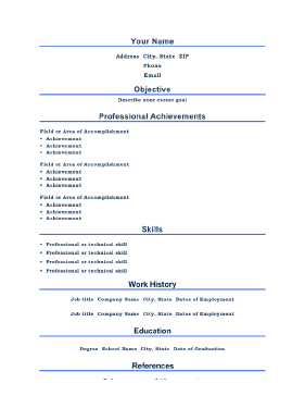 Professional Resume (A4)  Professional Resume Layout